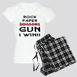 Rock Paper Scissors Gun I Win Women's Light Pajama